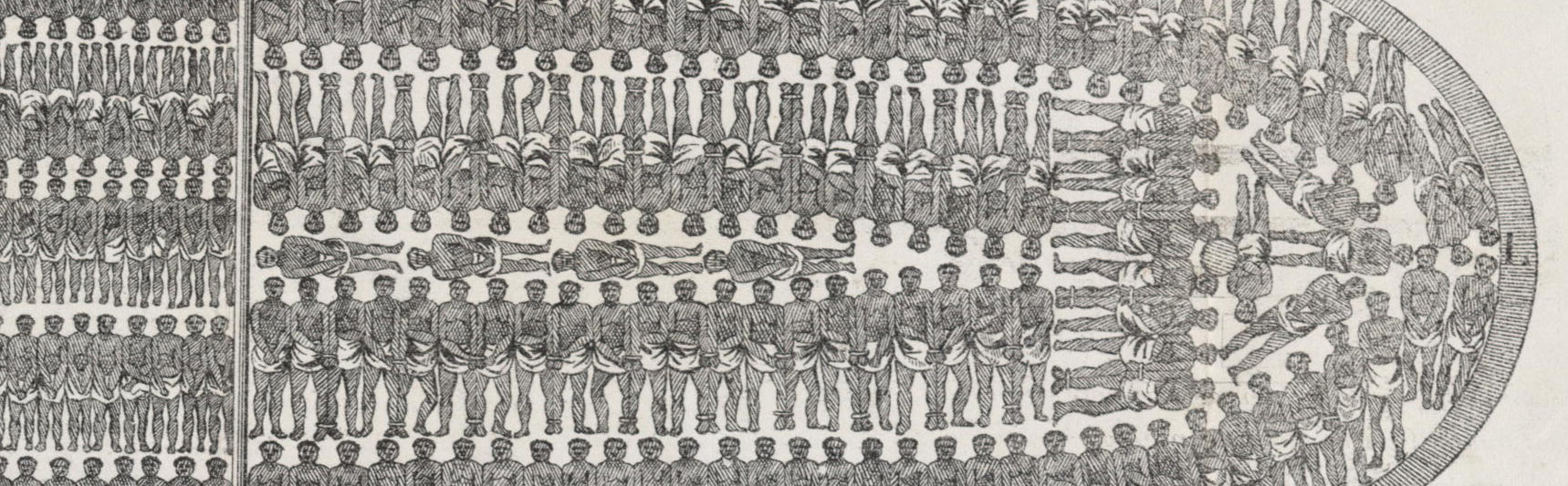 Stowage of the British Slave Ship - Regulated Slave Trade Infoghraphic