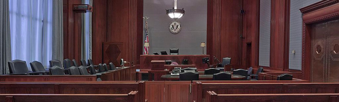 Criminal Trial Procedures in American Courtroom Infographic