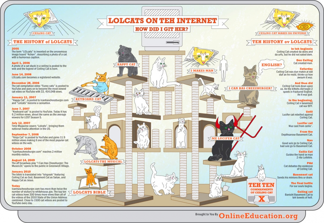 LOLcats on teh Internet Infographic
