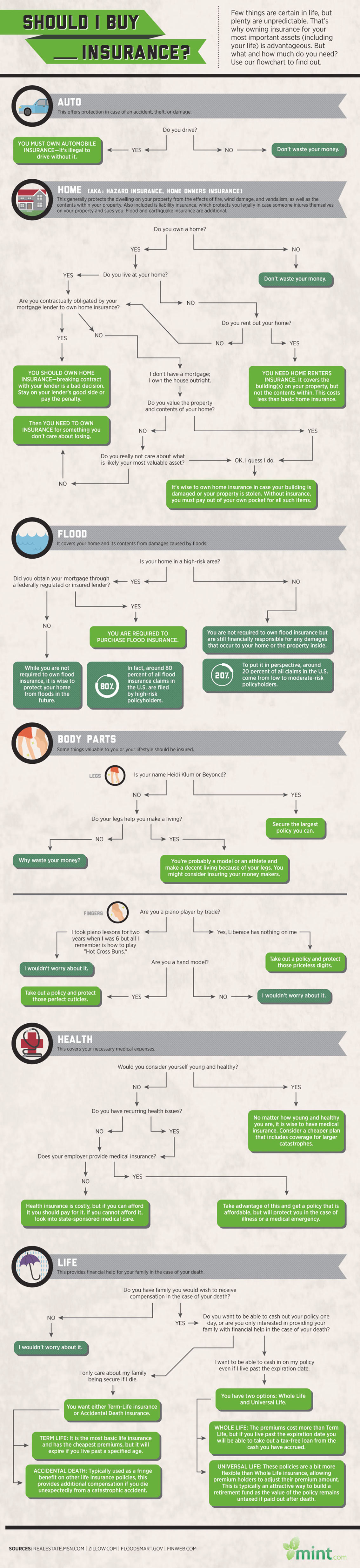 Should I Buy Insurance Infographic
