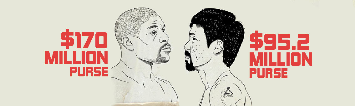 Mayweather vs Pacquiao Boxing Infographic