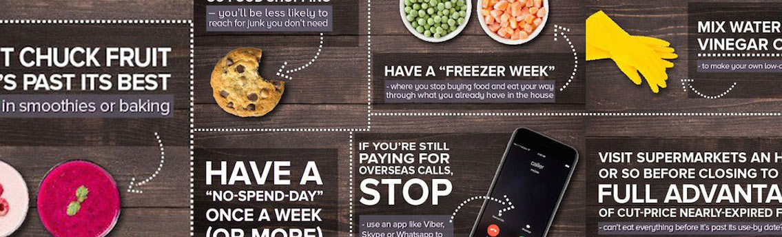 Sensible Sneaky Silly Ways To Saving Money Infographic