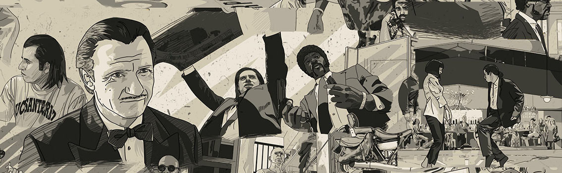 Pulp Fiction Movie in Chronological Order Infographic