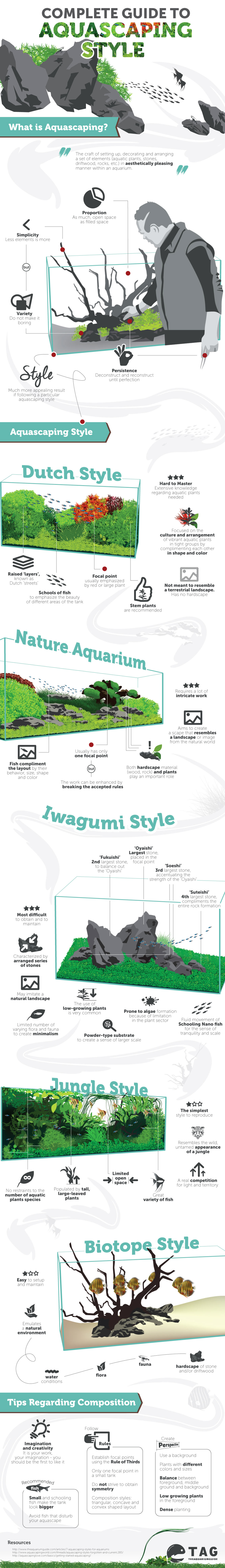 Aquascaping Styles Guide for Pet Fish Infographic