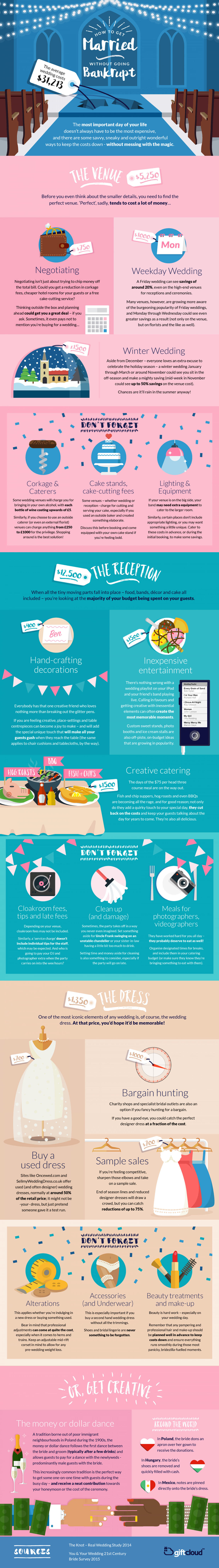 Wedding Ideas on a Tight Budget Infographic