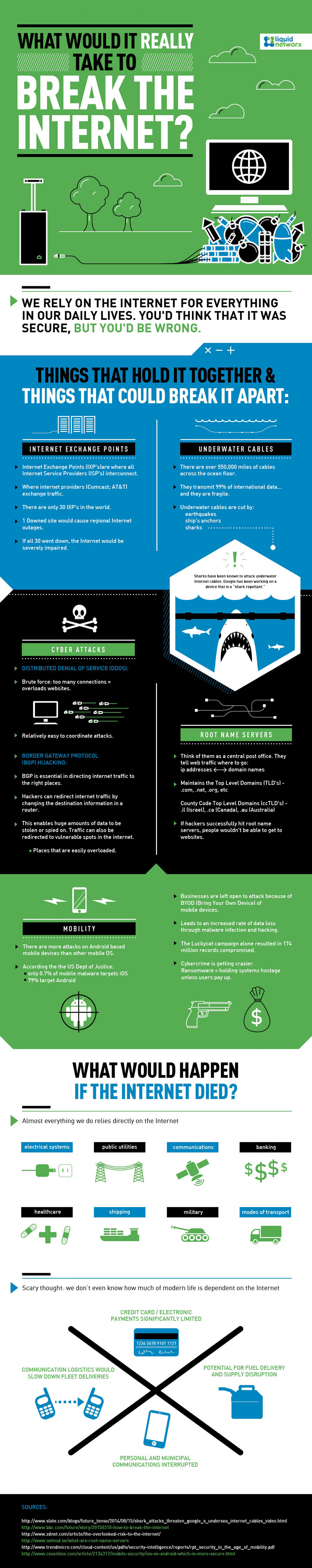 What It would take to Break the Internet Infographic