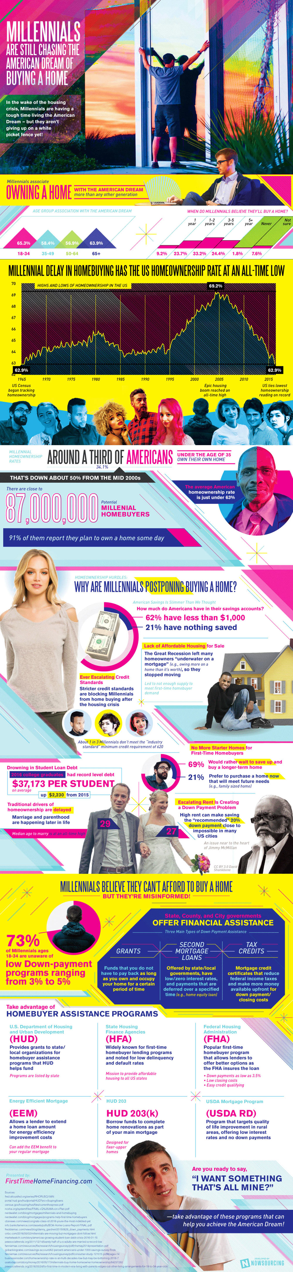 Millennials Postponing Buying a Home - Real Estate Infographic
