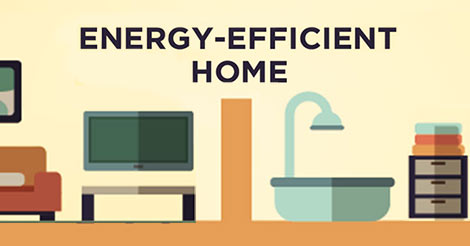 How to build an energy efficient home infographic for Building the most energy efficient home