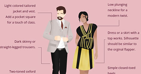 How To Wear The Fashion Trends From Decades Past Infographic