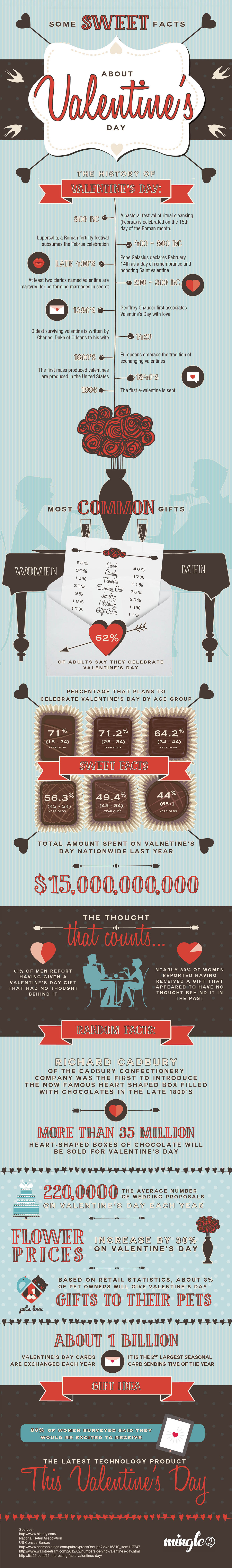 Fun Facts about Valentines Day Infographic