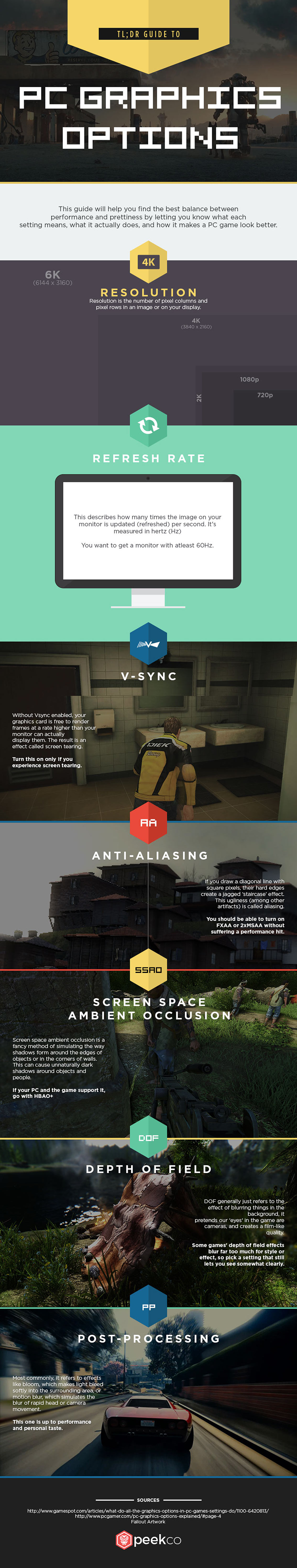 Guide to PC Graphics Options Infographic