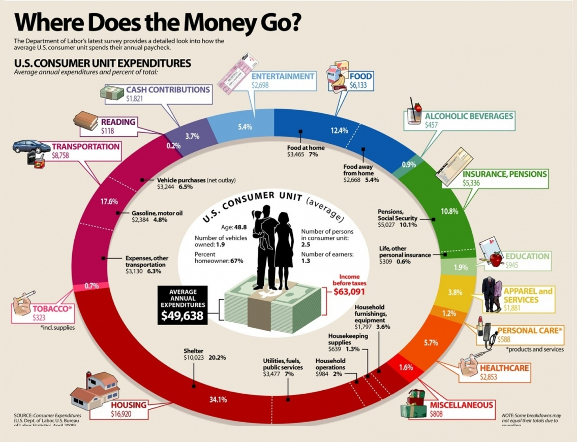 Where Does My Money Go Infographic