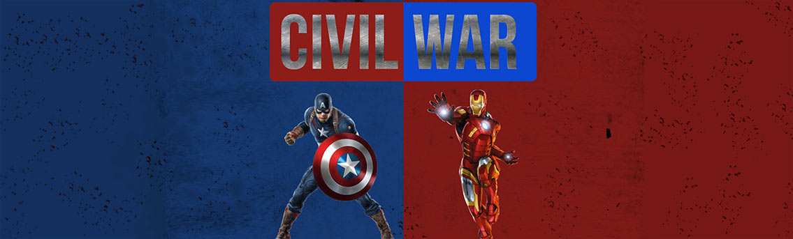 Captain America vs Ironman Infographic