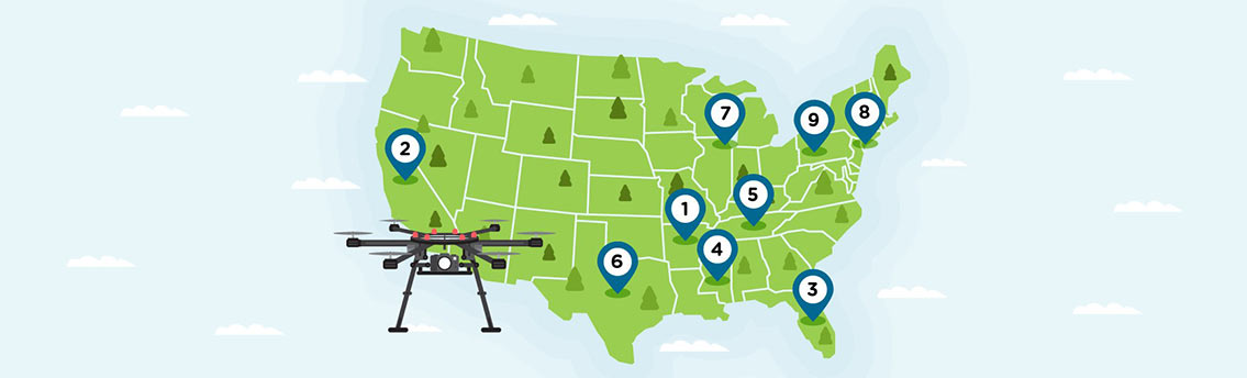 Drone Laws by State Infographic