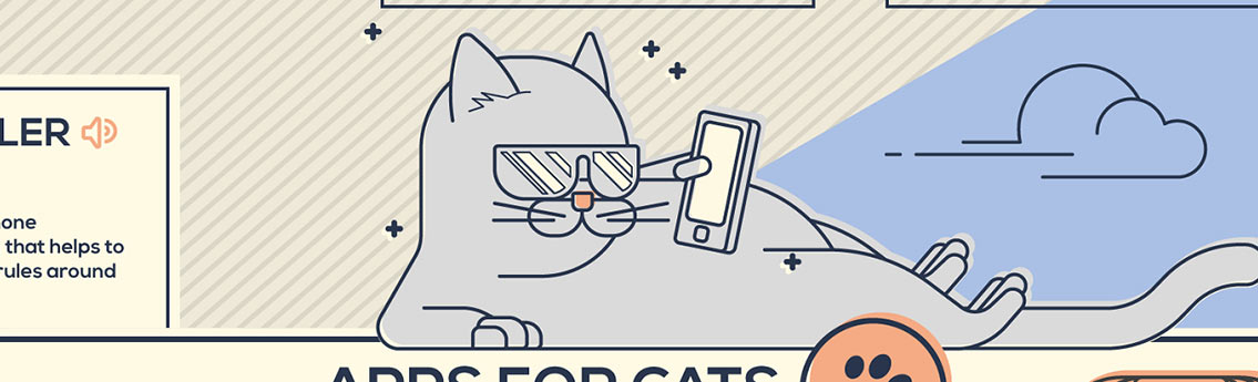 Cat and Dog iOS Android Apps - Pet Infographic