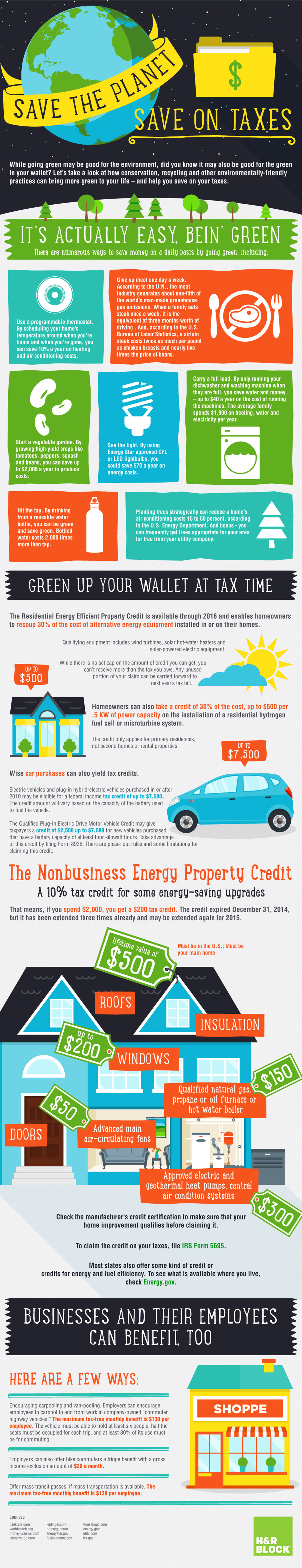 Earth Day - Save on Tax by Saving The Planet Infographic