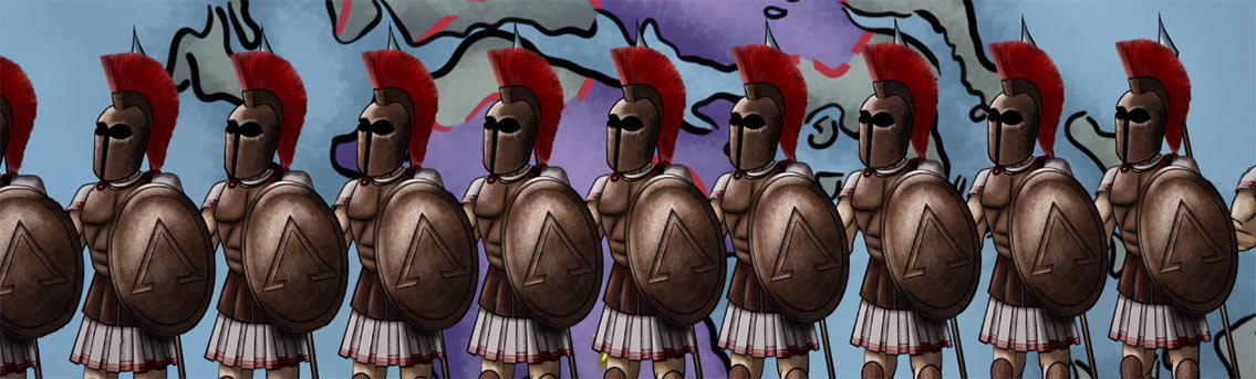 Spartans Fierce Warriors of Ancient Greece Video Infographic