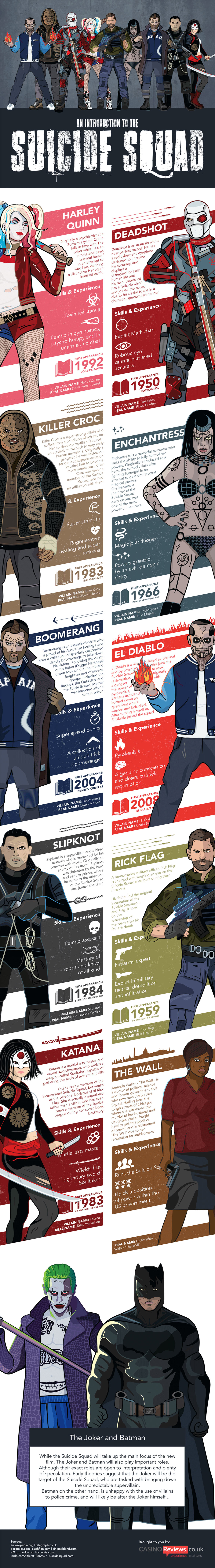 Suicide Squad Characters - Movie Infographic