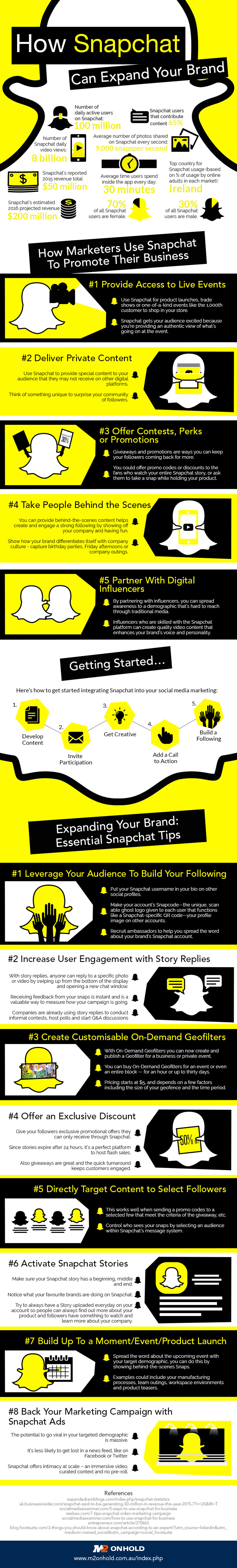 How Snapchat Can Expand Your Brand - Social Media Infographic