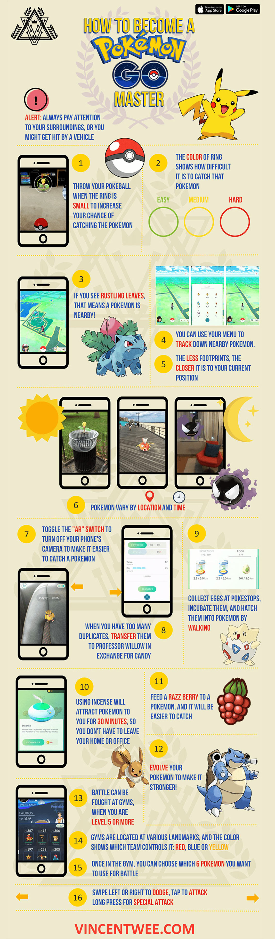 How to Become a Pokemon GO Master - Mobile Game Infographic