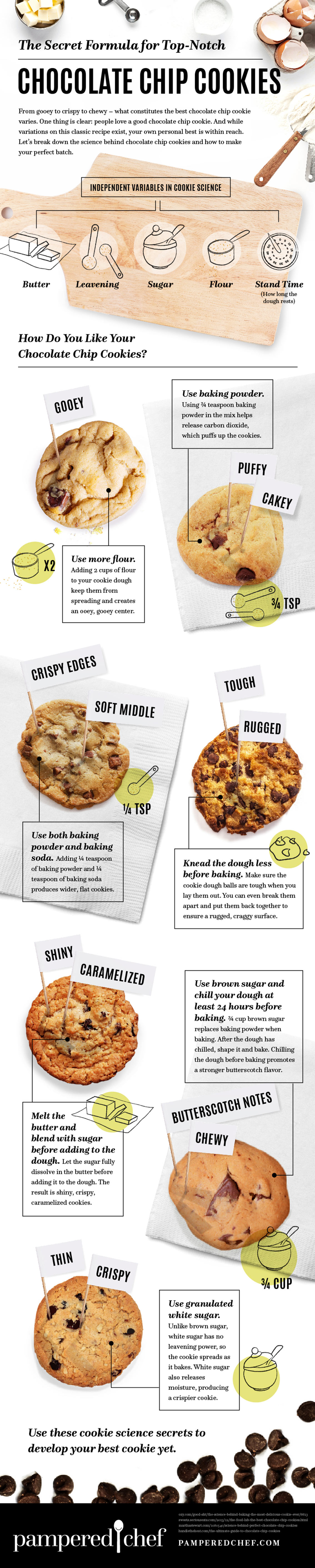 Secret Formula for Baking Chocolate chip Cookies Infographic