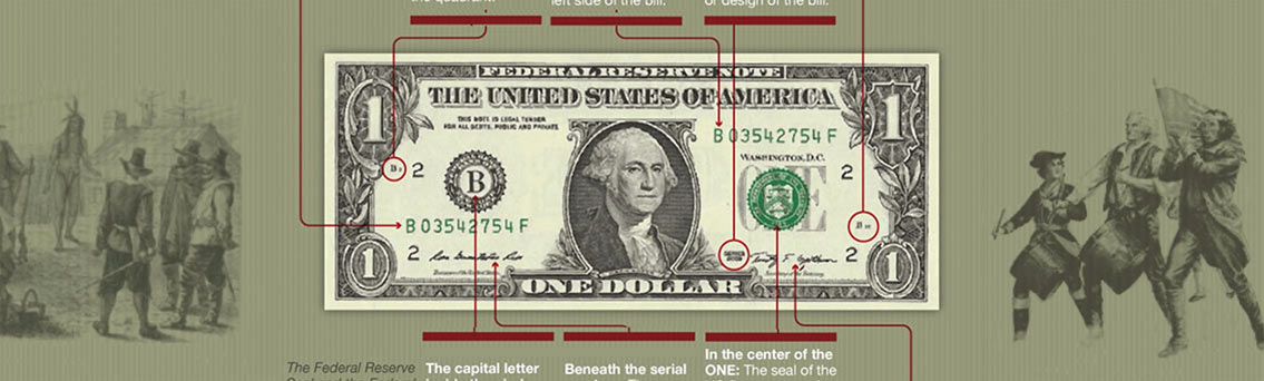 US Dollar Bill Anatomy