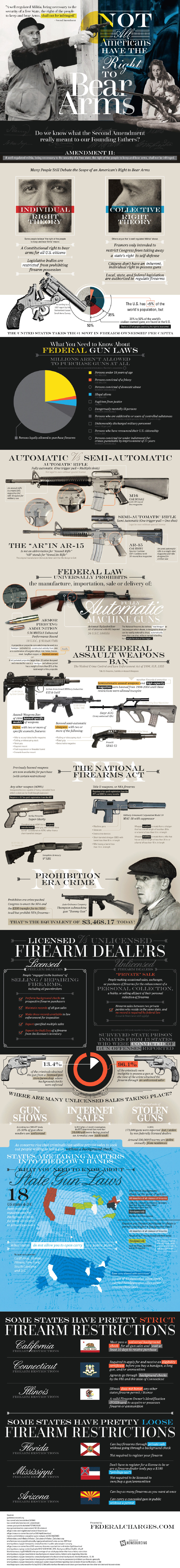 Second Amendment and the Right to Bear Arms - Law Infographic