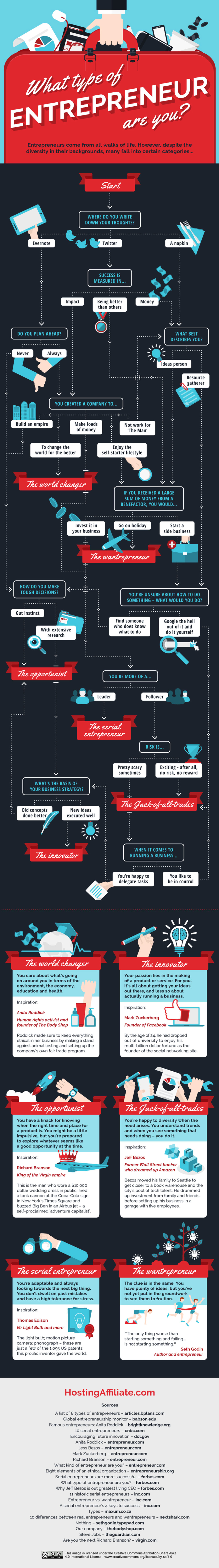 What Type of Entrepreneur are You - Business Infographic