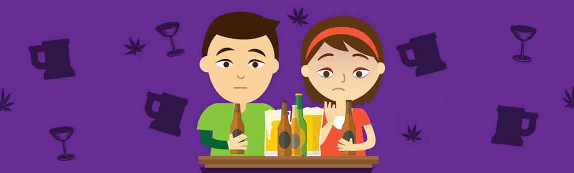 Signs of Alcohol and Drug Abuse for Teens Infographic