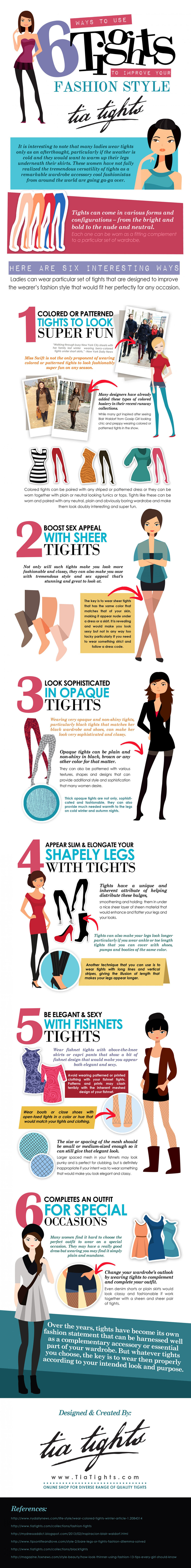Ways to Use Tights to Improve your Fashion Style Infographic