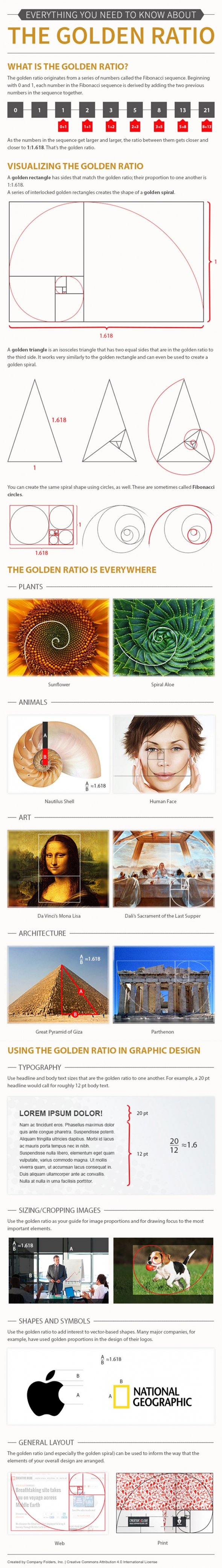 how to apply the golden ratio in graphic design infographic